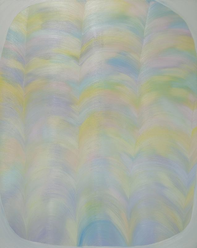 A light painting with a white frame, oil on canvas, 152cm x 120cm, 2012