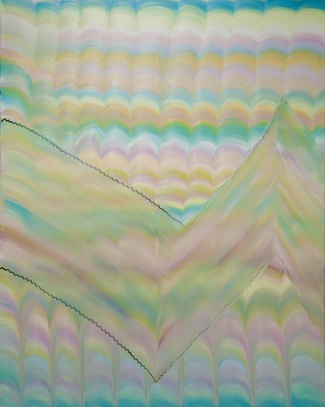 A stripy painting, oil on canvas, 152cm x 120cm, 2012